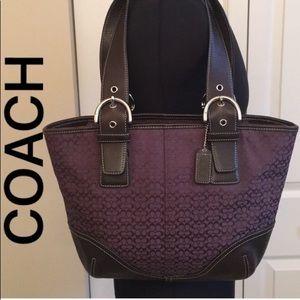 🇺🇸 COACH LARGE PURPLE SHOULDER BAG 💯AUTHENTIC